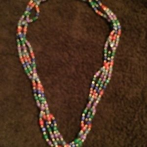 Four Strand Colorful Necklaces